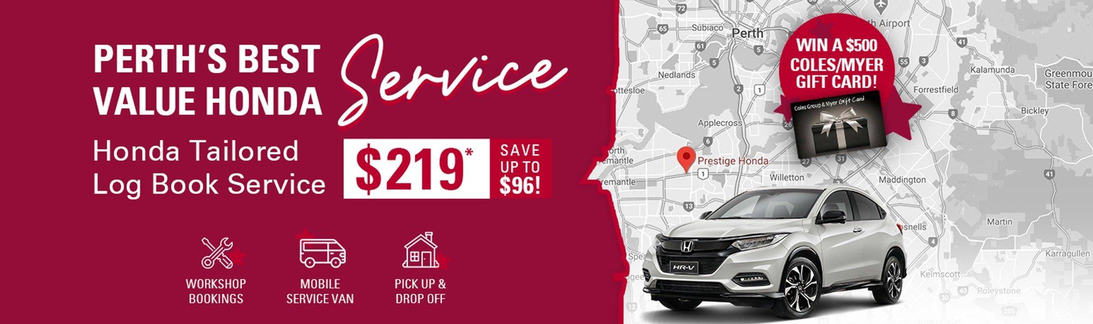 Perth's best value Honda service