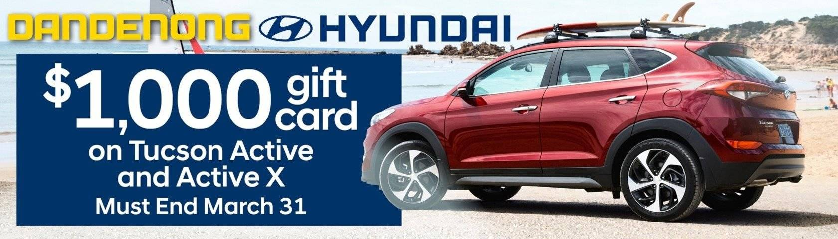 Dandenong Hyundai $1000 Gift Card