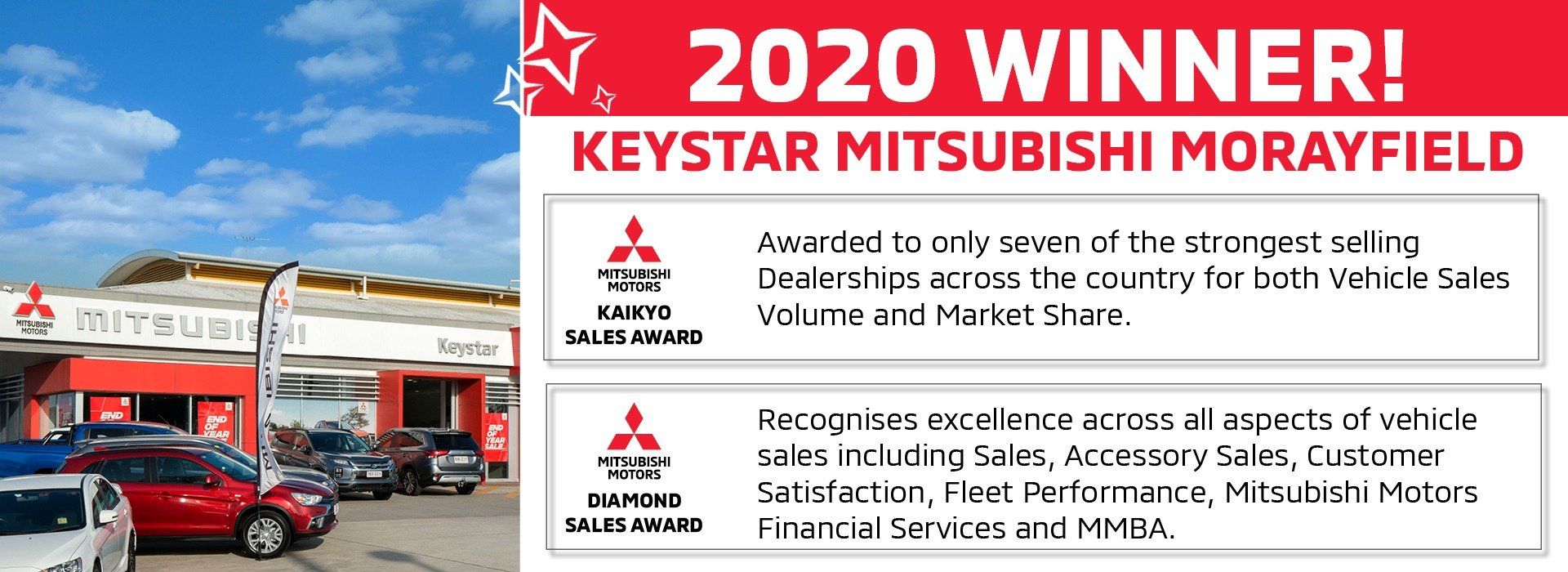 Keystar Mitsubishi Wins 2020 Awards!