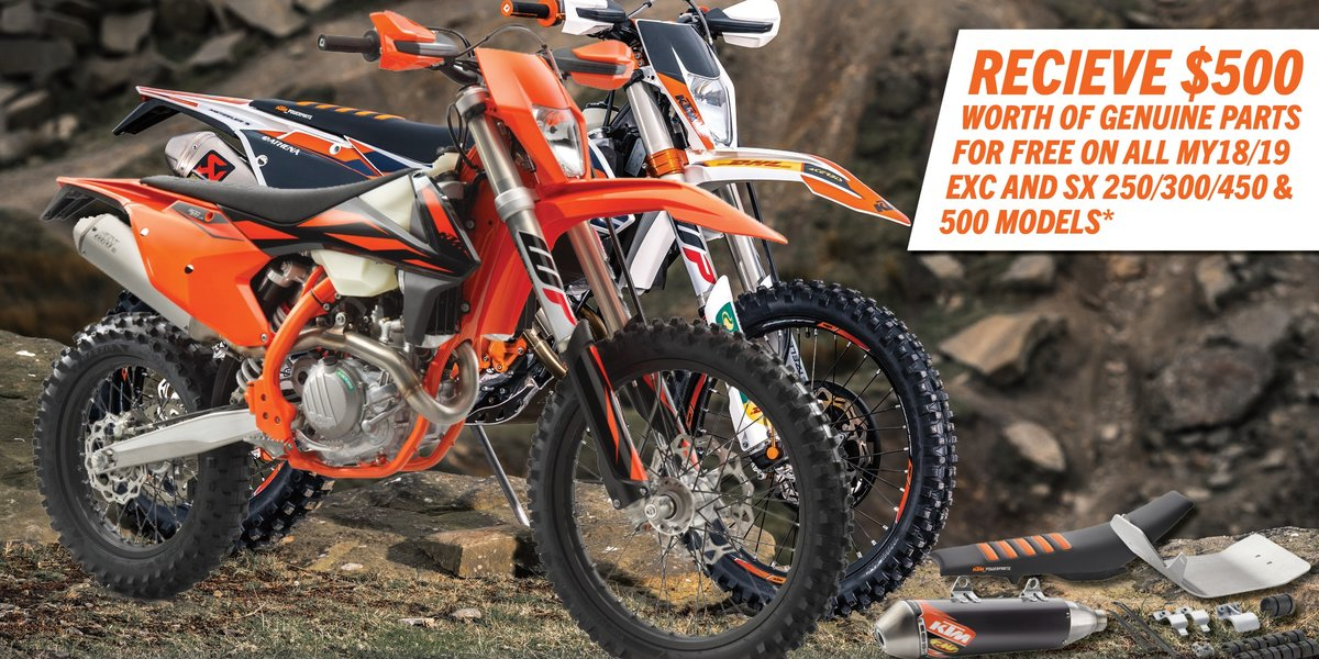 blog large image - Bonus $500 of genuine KTM parts