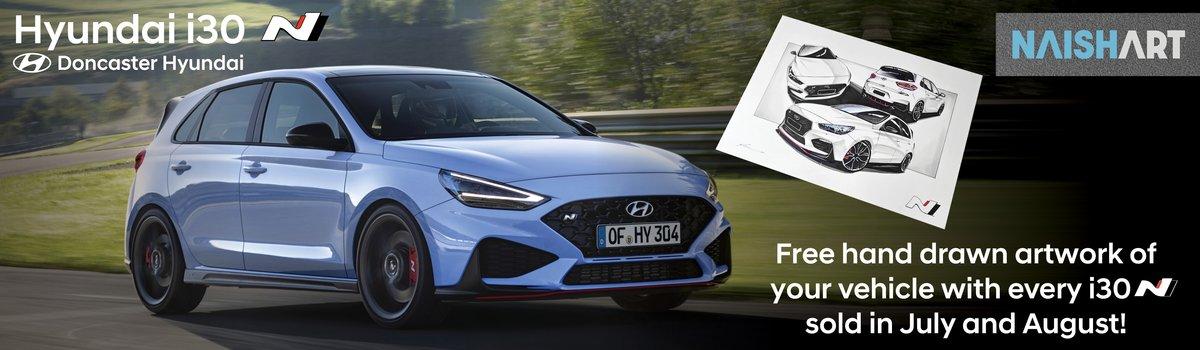 Bonus NaishArt drawing with every new Hyundai i30 N sold! Large Image