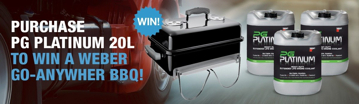 Purchase PG Platinum 20L and go into the draw to win a Weber go-anywhere portable BBQ! Large Image
