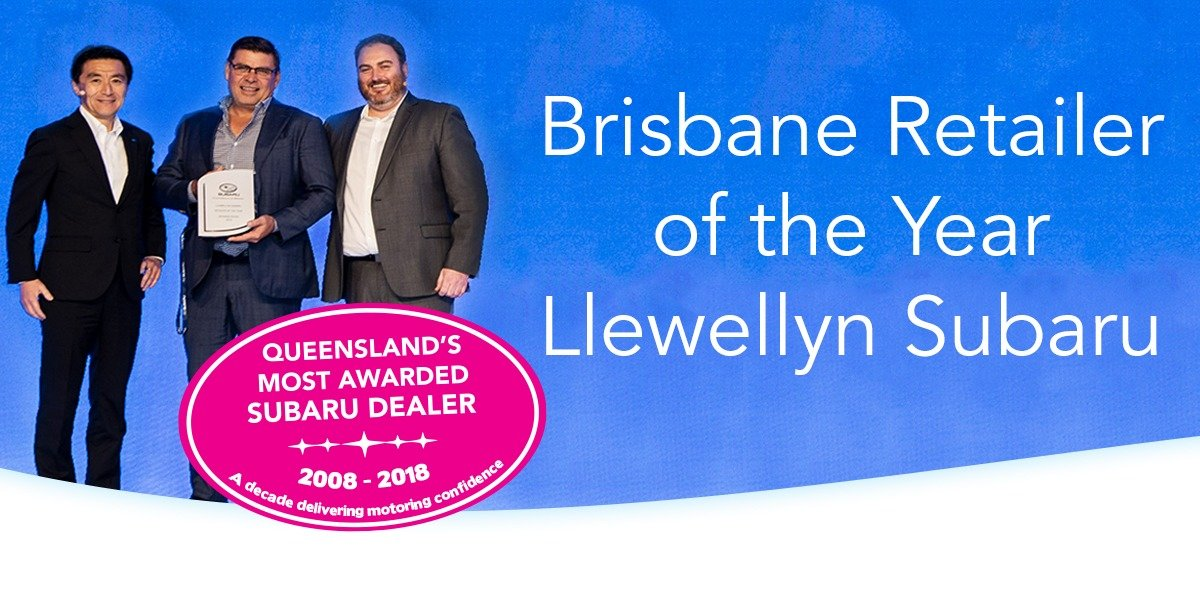 blog large image - Llewellyn Subaru Wins Subaru Brisbane Retailer of the Year and Imagination Award