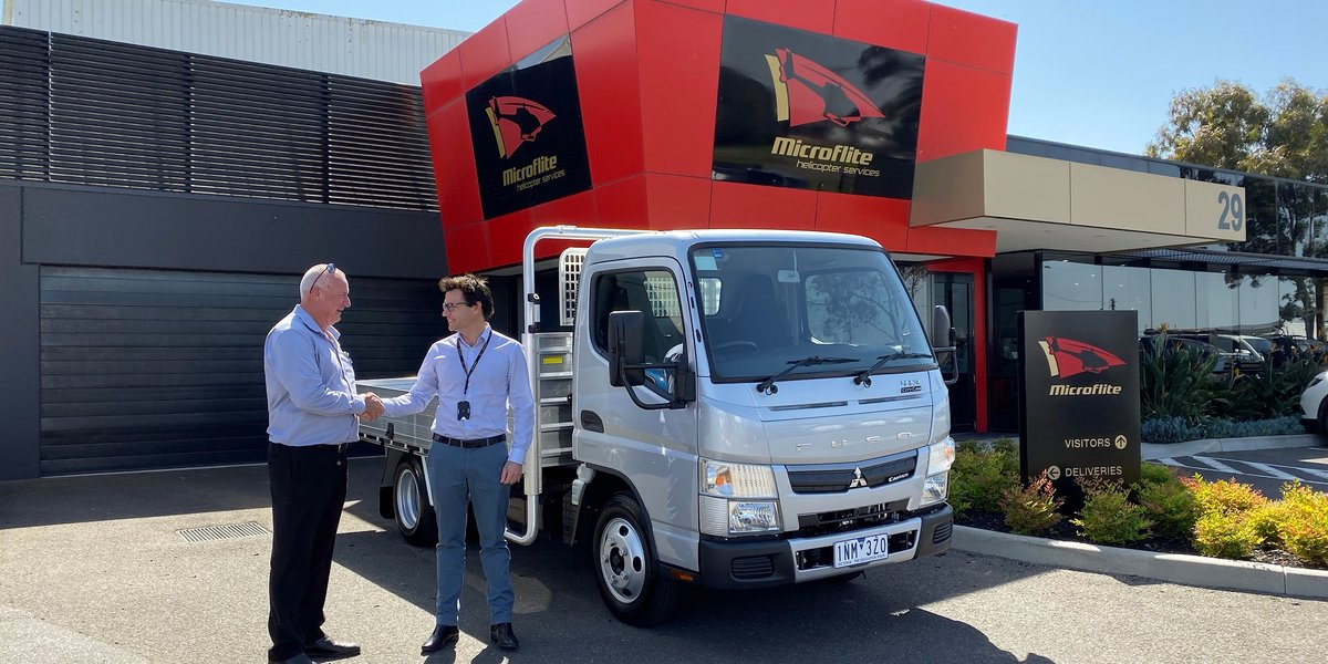 blog large image - Fuso Port Melbourne donate a Fuso Canter 413 Trade Pack Truck to the Million Dollar Lunch for the Children's Cancer Foundation