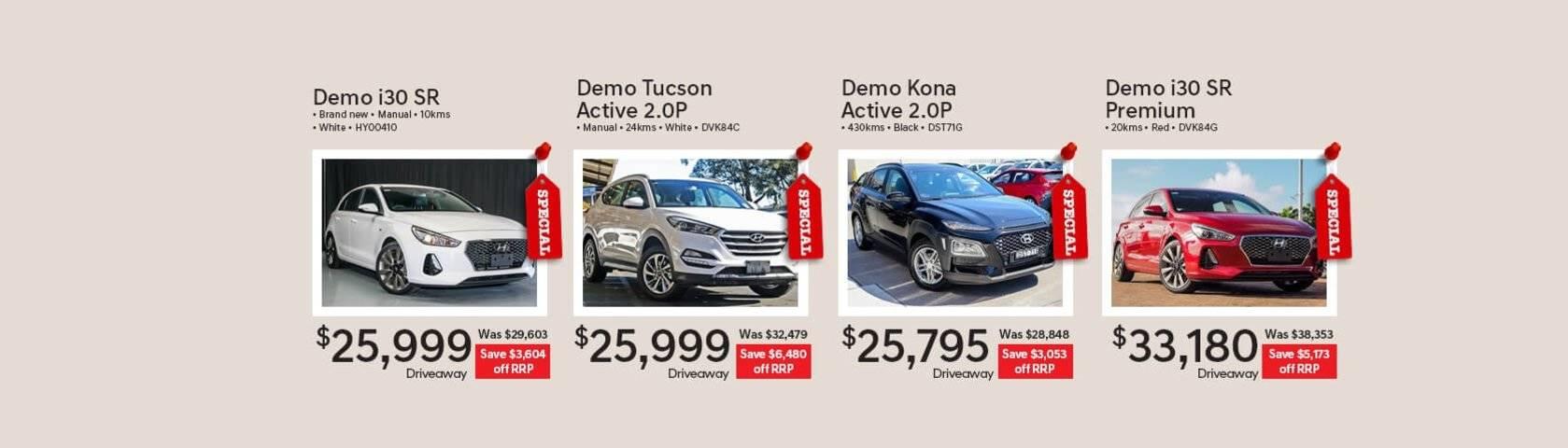 Hyundai Demo Vehicles