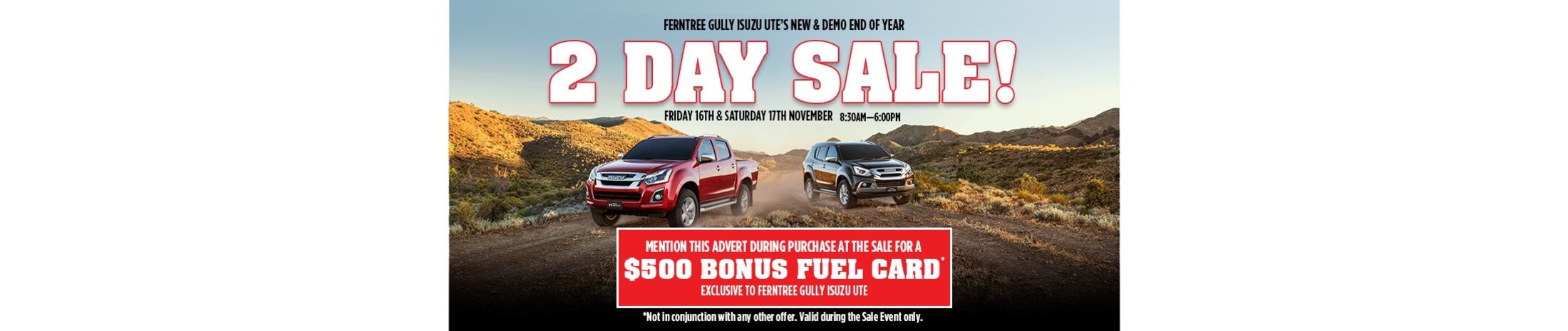 Ferntree Gully Isuzu 2 Day Sale