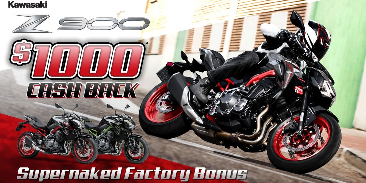 blog large image - $1000 Cash Back on the Kawasaki Z 900