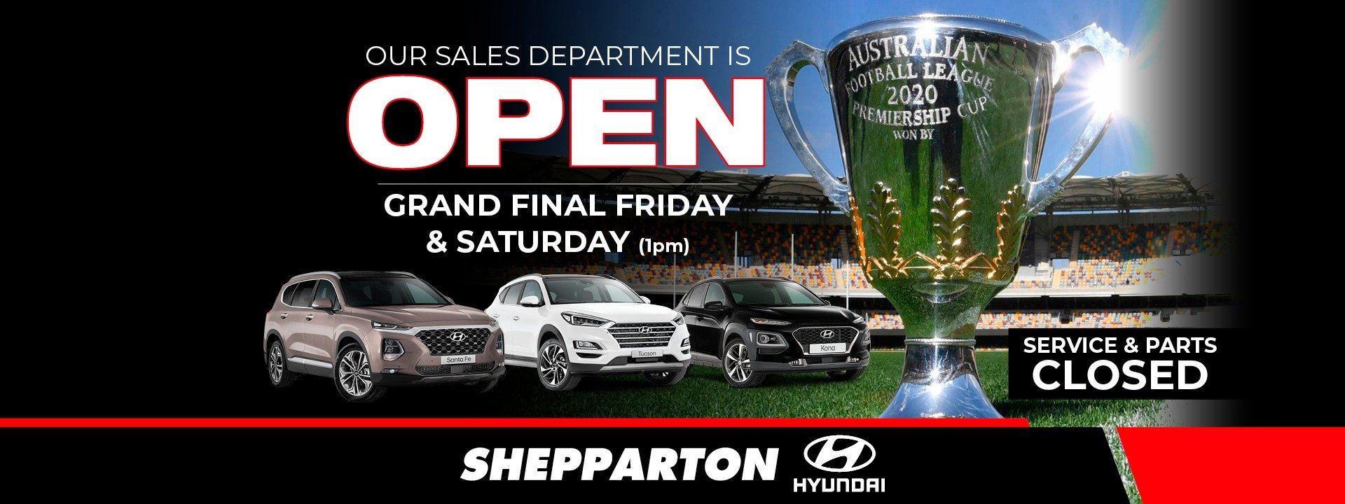 Open Grand Final Friday and Saturday