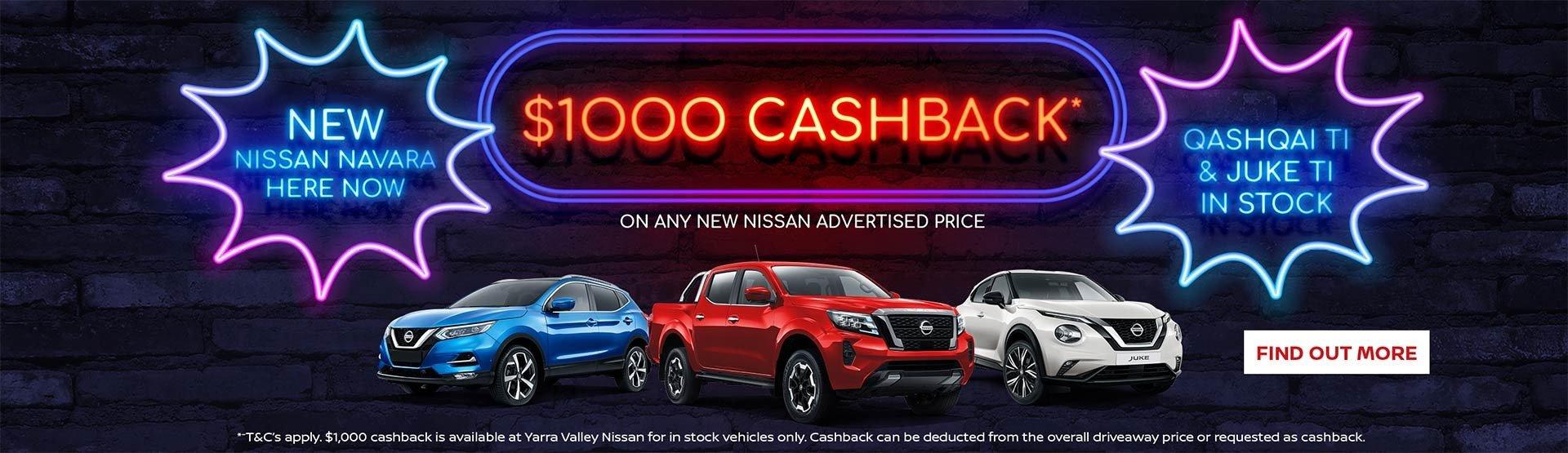 Yarra Valley Nissan - $1000 CashBack