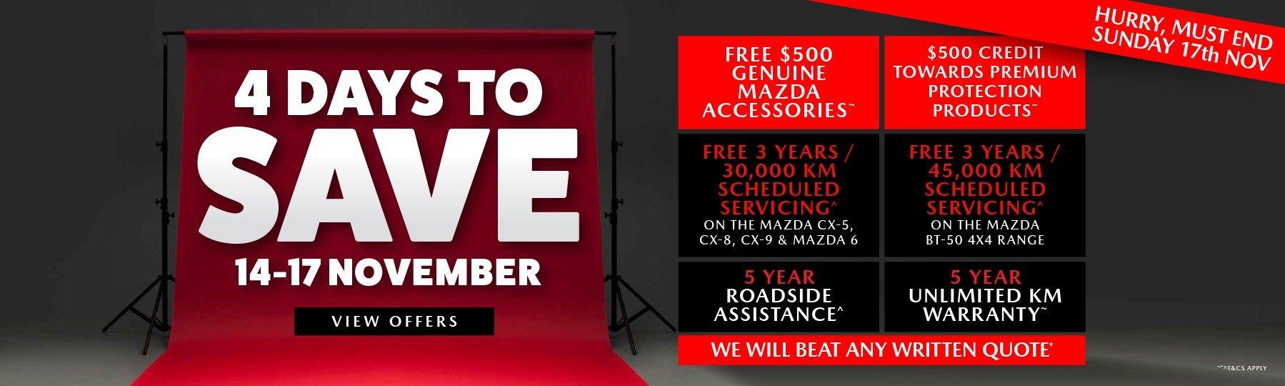 Macarthur Mazda - 4 Day Sale