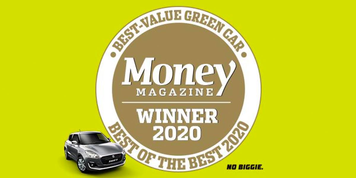 blog large image - Swift wins Money Magazine Best Value Green Car award for 2020!