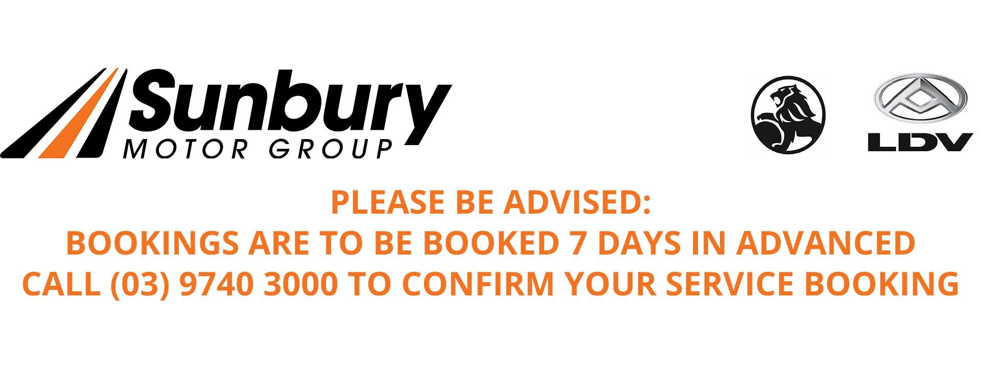 Sunbury Motor Group - Service Notice