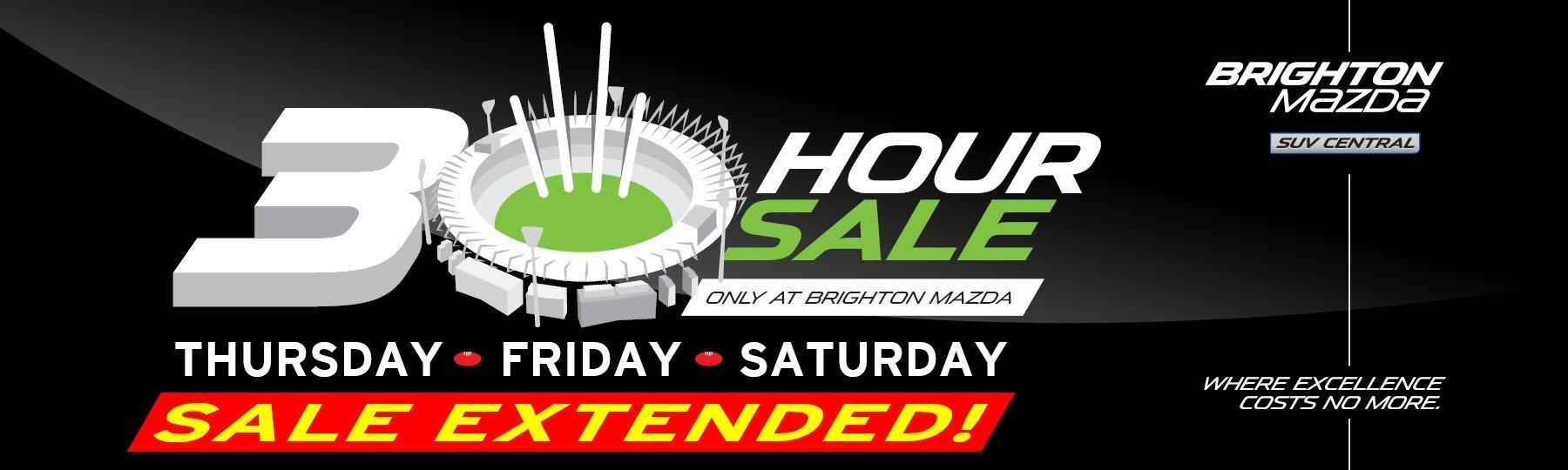 Brighton Mazda 30 Hour Sale
