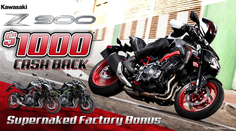 $1000 Cash Back on the Kawasaki Z 900