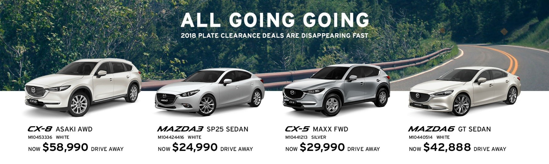 Newcastle Mazda 2018 Plate Clearance