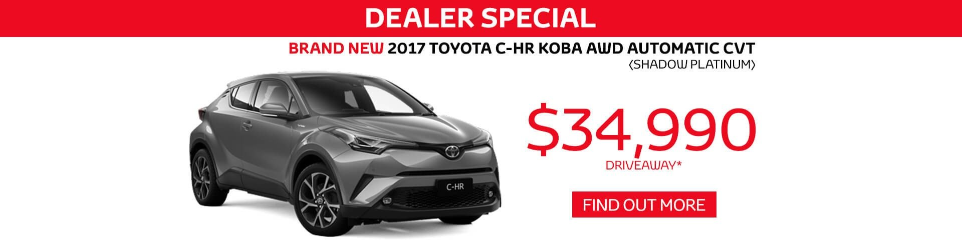 Hornsby Toyota CH-R Dealer Special