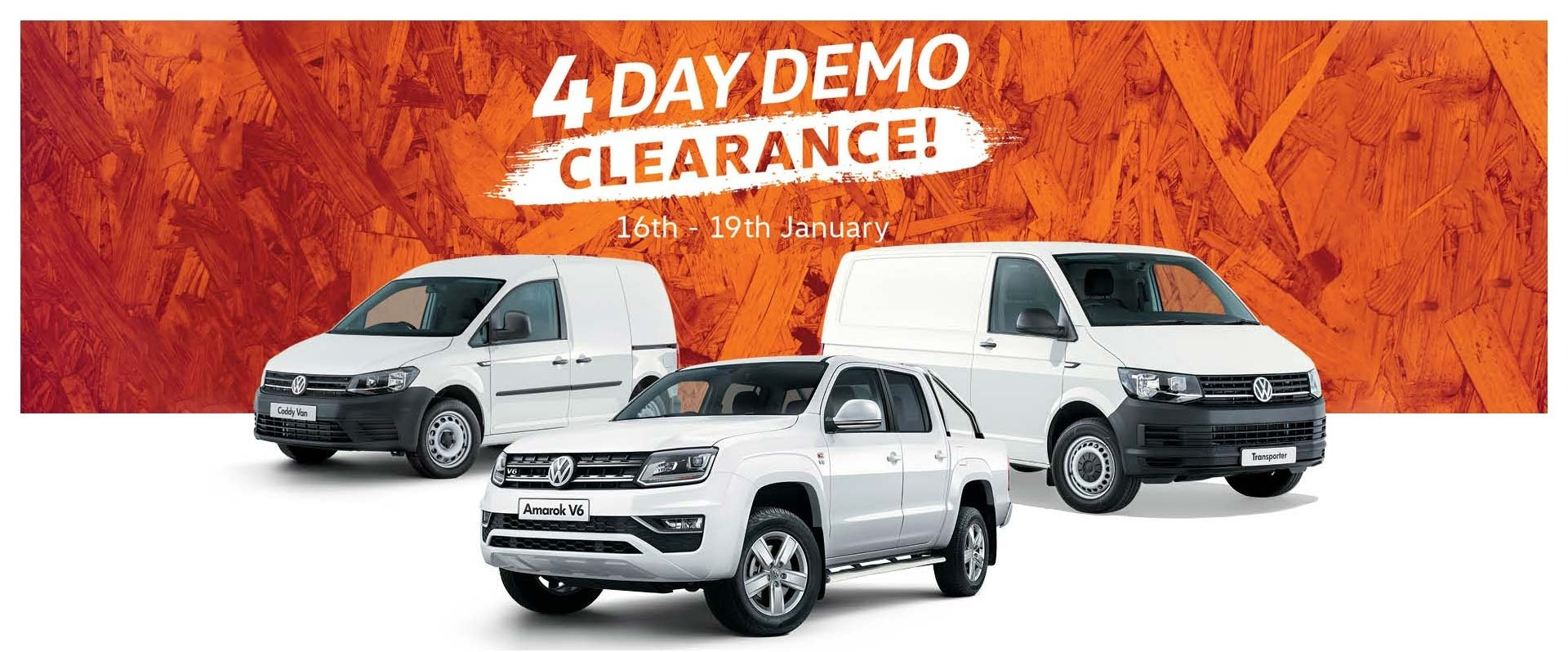 4 Day Demo Clearance
