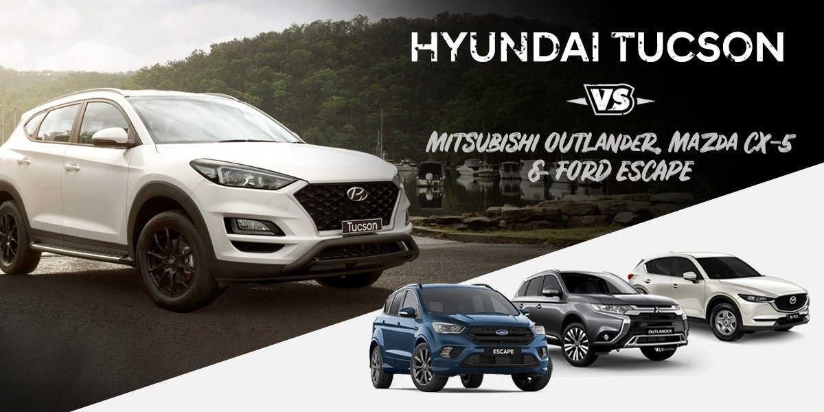 blog large image - <strong>Consider how well the Hyundai Tuscon stacks up next to Mitsubishi Outlander, Mazda CX-5 and Ford Escape</strong>