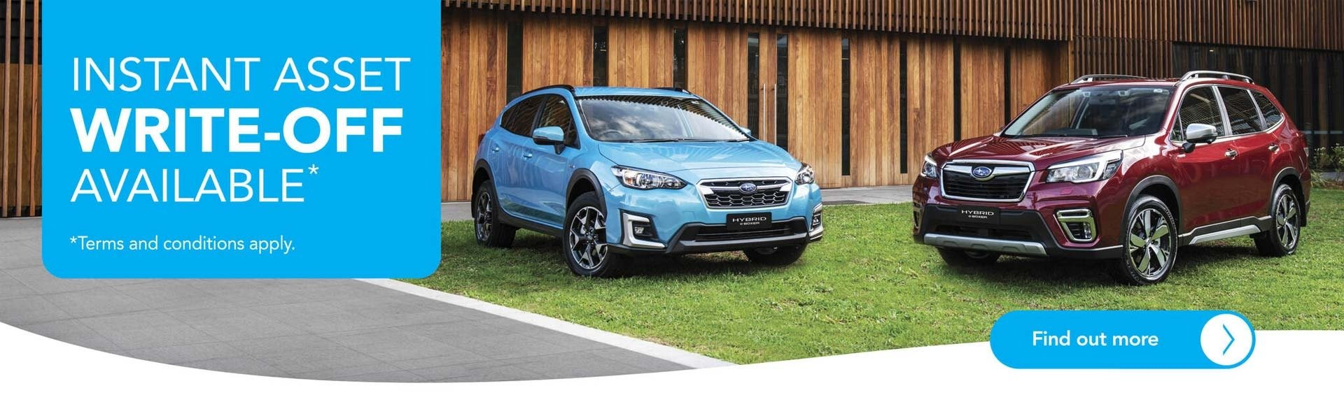 Subaru Instand Asset Write-Off