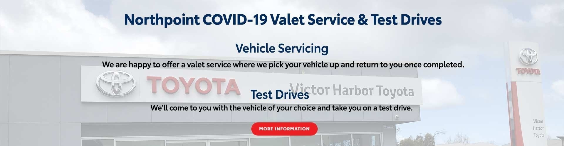Victor Harbor Toyota Valet Service Offer