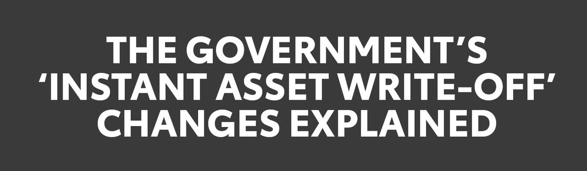 The Government's 'Instant Tax Write-Off' Explained Large Image