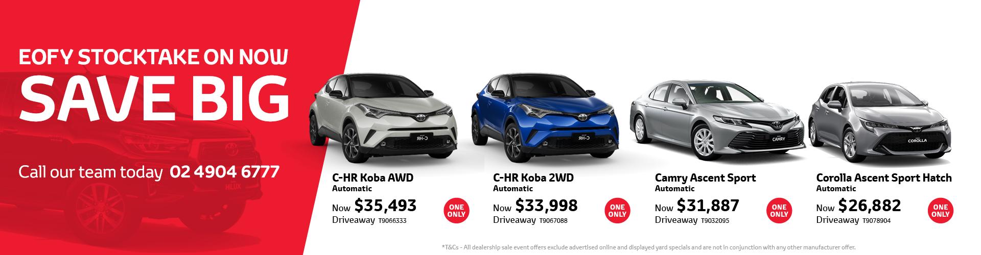 Toyota EOFY Stocktake