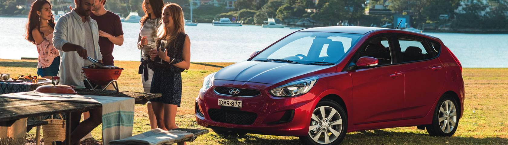 Hyundai Accent in a Geraldton Park