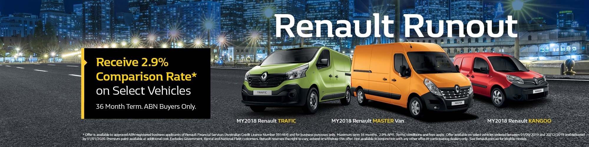 Suttons City Renault Runout