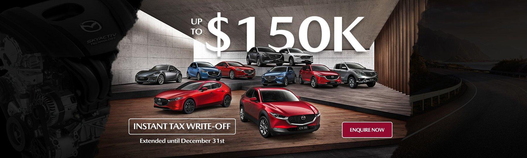 150k Tax Writeoff Mazda