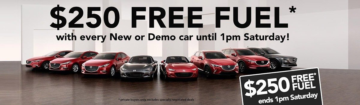 $250 Free Fuel with every New or Demo car until 1pm Saturday! Large Image