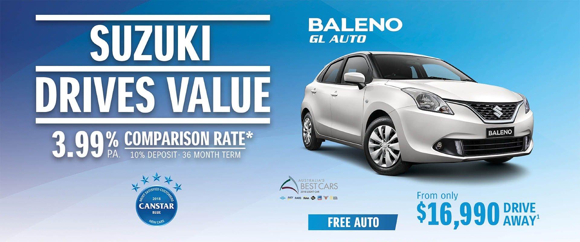 Suzuki Drives Value - Baleno GL Auto