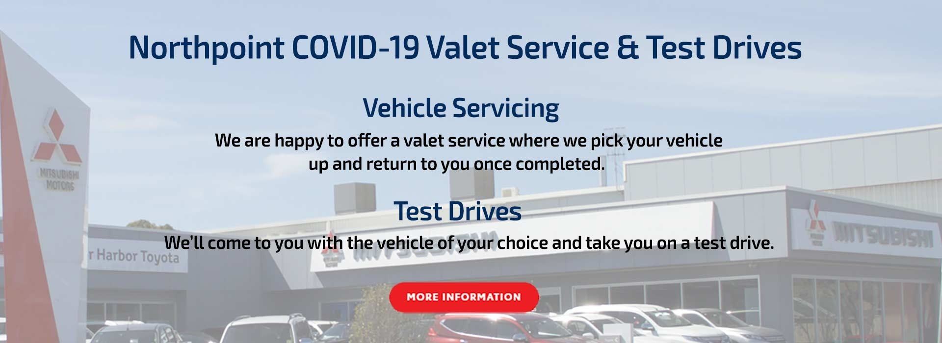 Northpoint COVID-19 Valet Offer We'll come to you