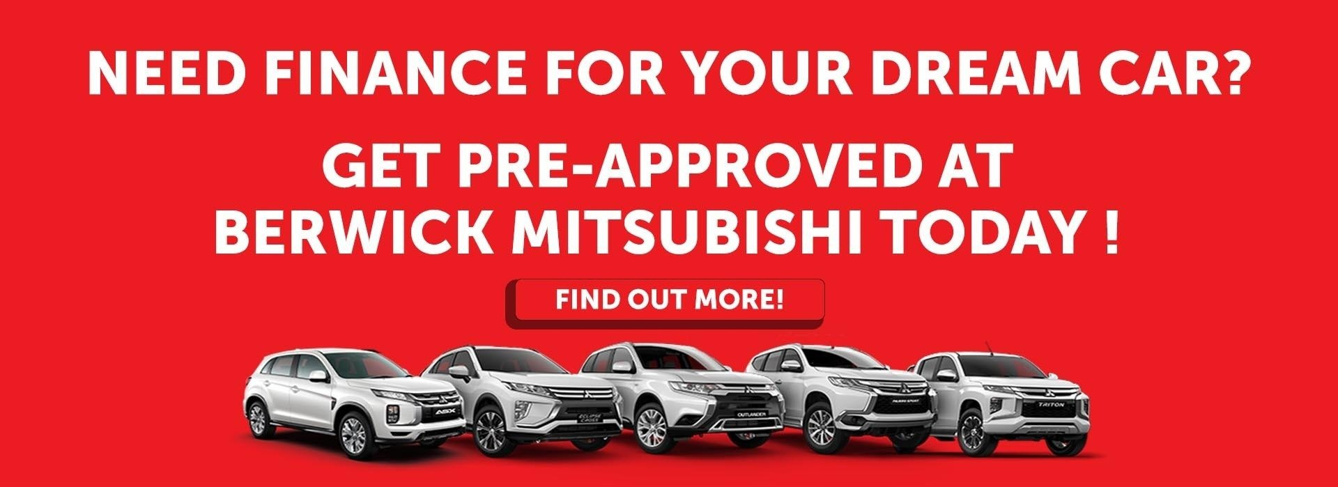 Berwick Mitsubishi Get Pre-approved Today!