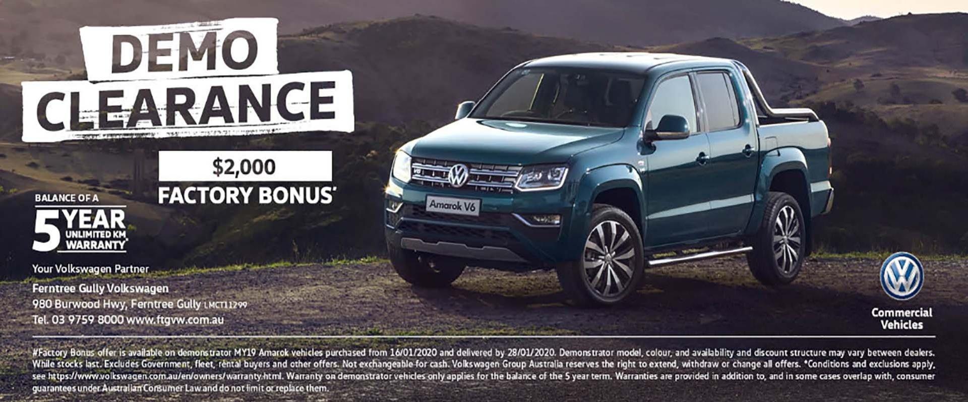 Ferntree Gully Volkswagen - Amarok Demo Clearance
