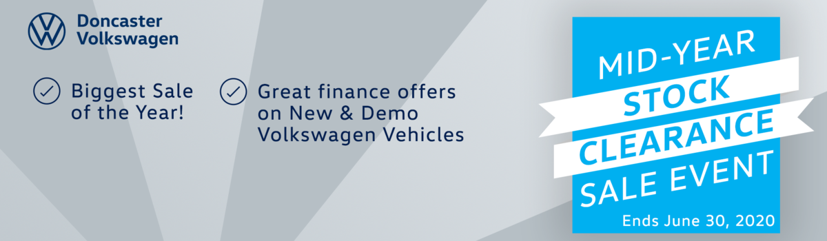 Doncaster Volkswagen's Mid-Year Stock Clearance is on now! Large Image