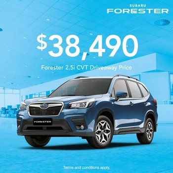 Forester 2.5i from $38,490 Small Image