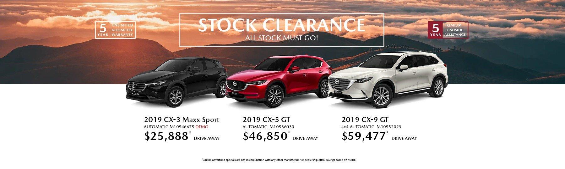 Newcastle Mazda 2019 Stock Clearance