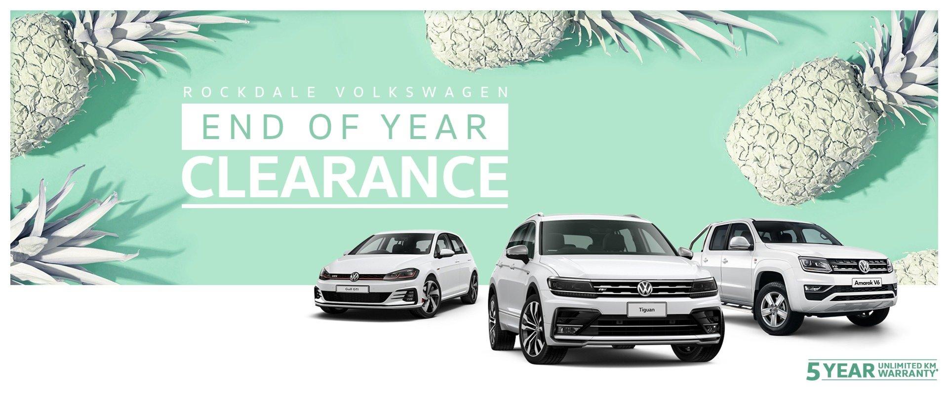 Rockdale Volkswagen End Of Year Clearance Sale