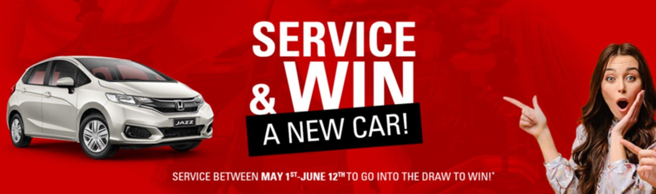 Service & Win a New Honda