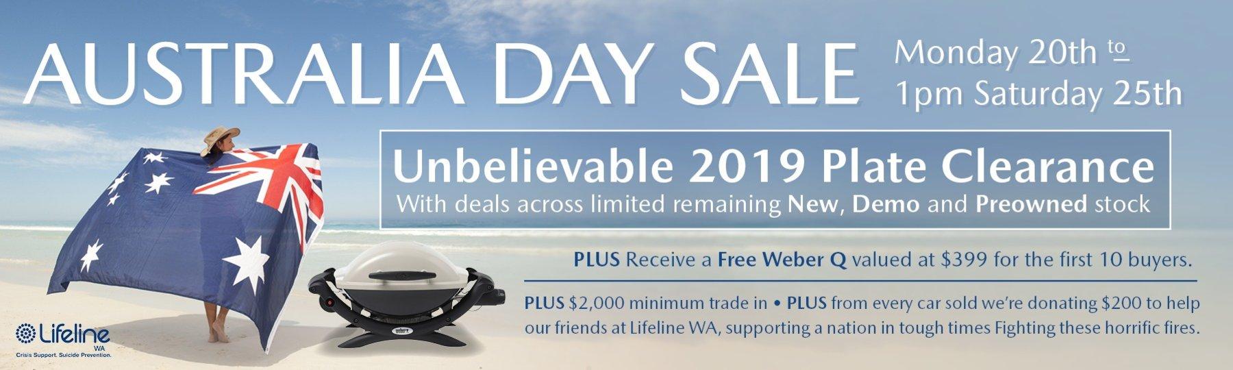 Australia Day Sale!