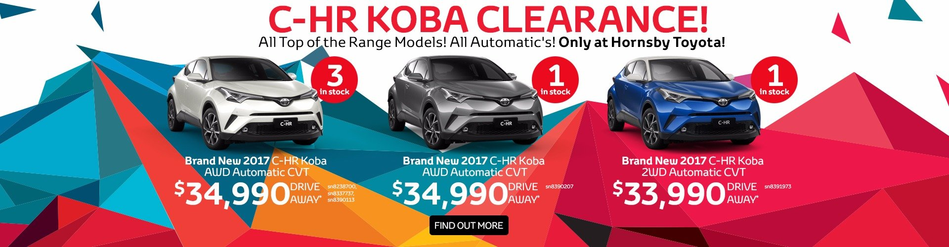 C-HR Koba clearance