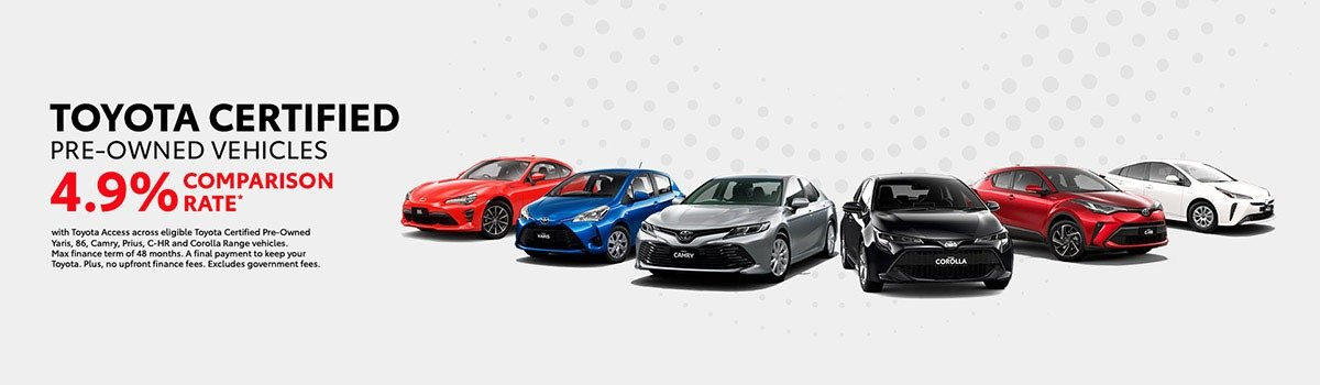 Toyota Certified Pre-owned Vehicles 4.9% Offer Large Image