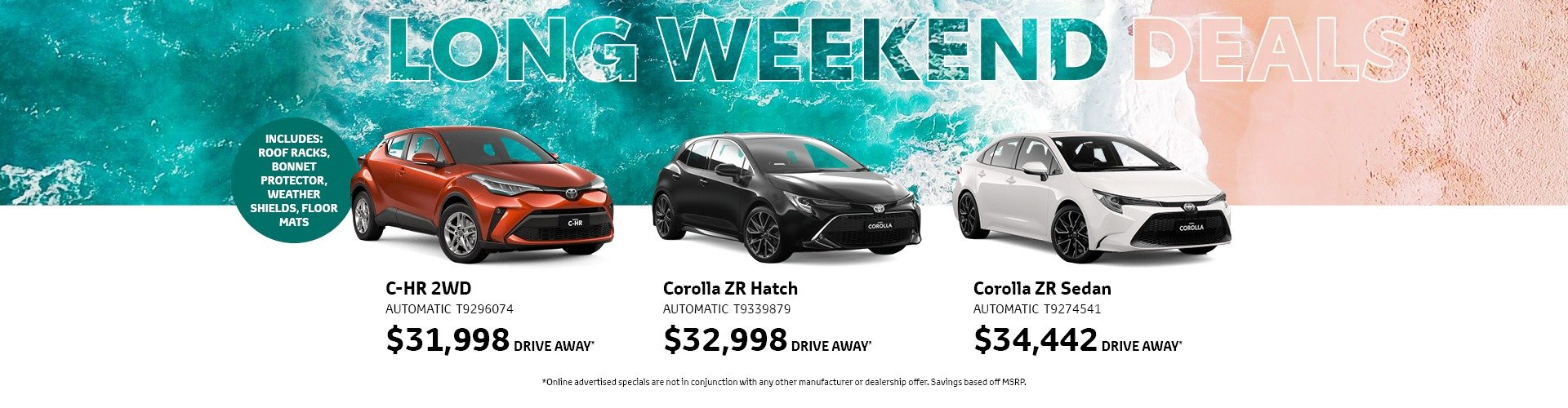 cardiff toyota long weekend deals