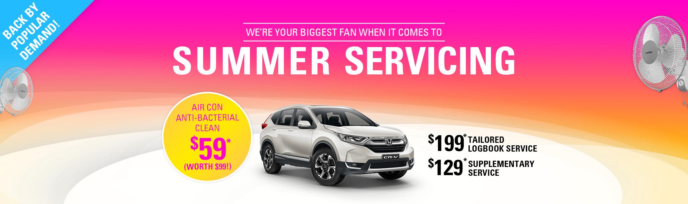 Summer servicing at Prestige Honda.