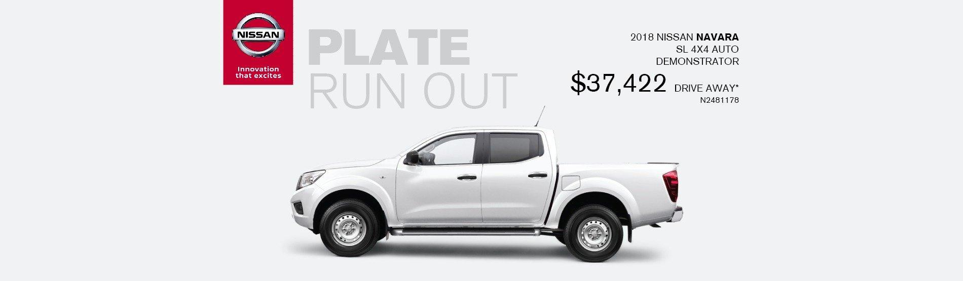 Maitland Nissan Plate Clearance