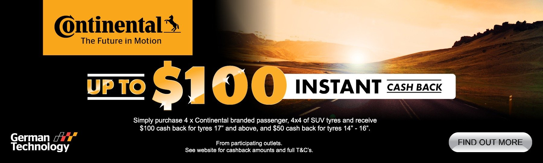 Continental tyre cashback