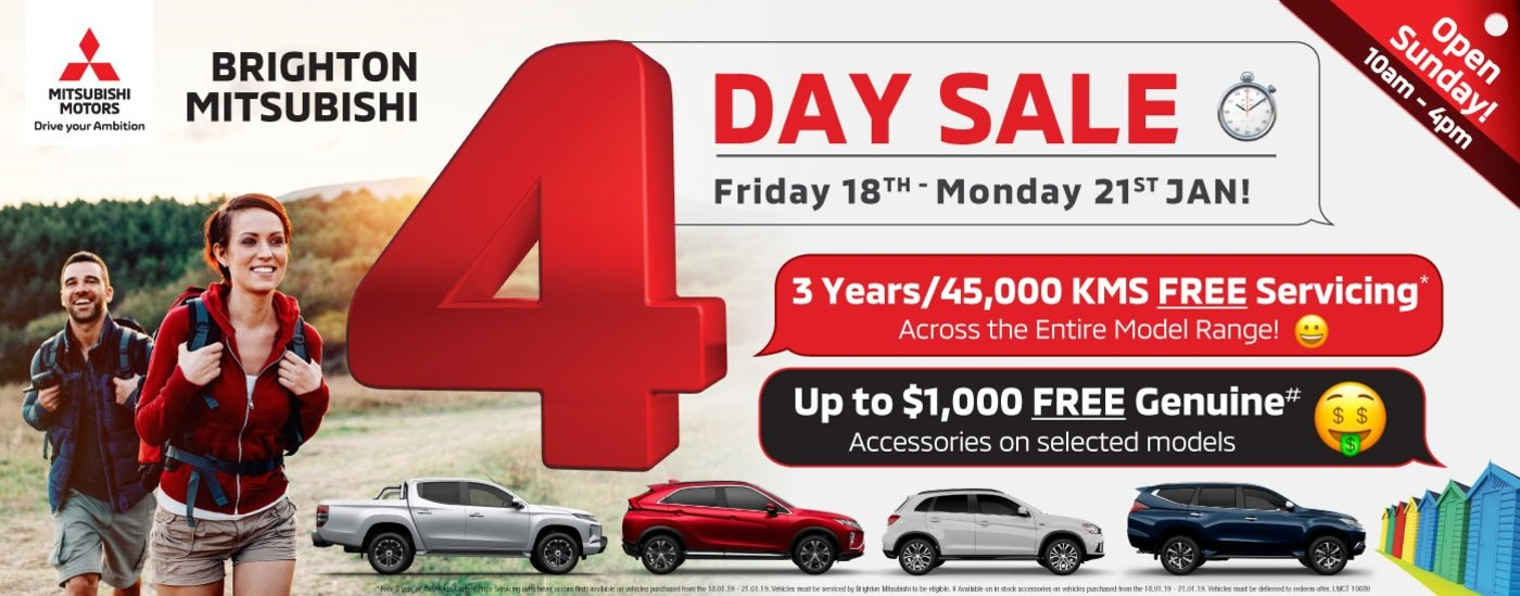 Brighton Mitsubishi - 4 Day Sale