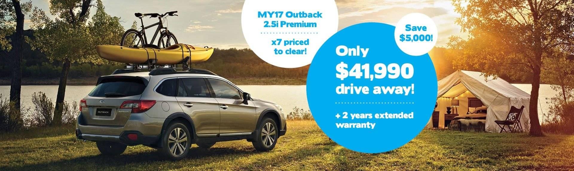 Hunter Subaru Outback Clearance