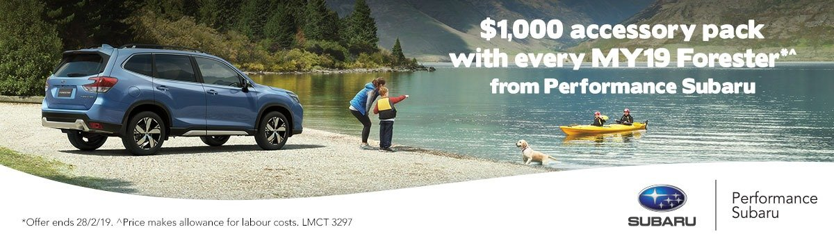 $1000 Accessory Pack with EVERY MY19 Subaru Forester* Large Image