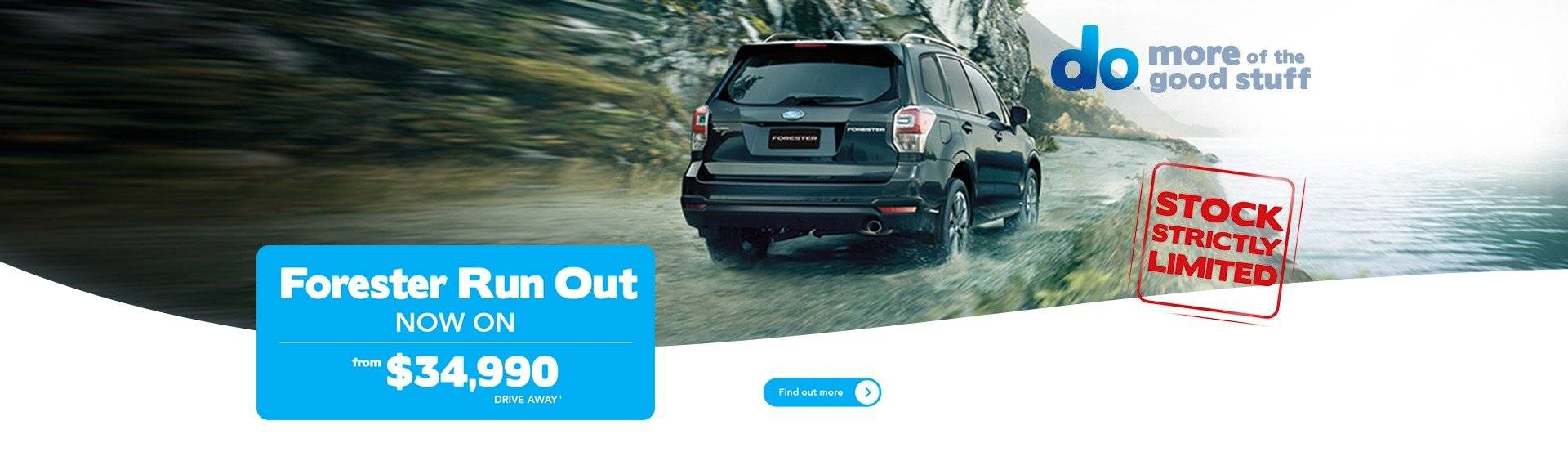 Subaru Forester Run Out Offer